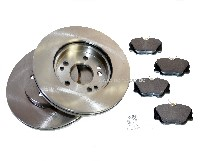 set for brake disc, front, W124