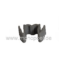 retaining clip for two injection pipes